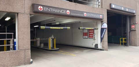 17th Street Plaza garage exit