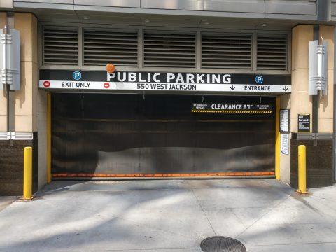 Parking for 550 West Jackson